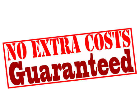 costs: Rubber stamp with text no extra costs guaranteed inside, vector illustration