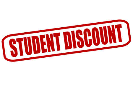 undergraduate: Rubber stamp with text student discount inside, vector illustration