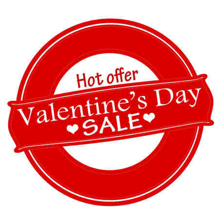 bid: Rubber stamp with text Valentine day sale inside, vector illustration