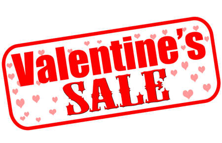 treachery: Rubber stamp with text Valentine sale inside, vector illustration