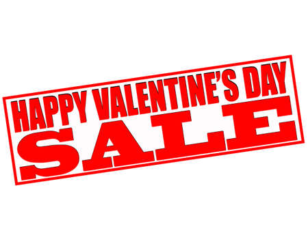 blithe: Rubber stamp with text happy Valentine day sale inside, vector illustration