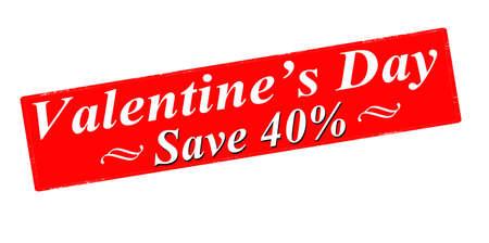 superviser: Rubber stamp avec le texte Valentine jour sauver l'int�rieur, illustration vectorielle Illustration