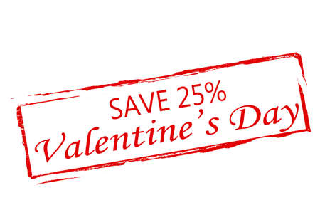 supervise: Rubber stamp with text Valentine day save inside, vector illustration