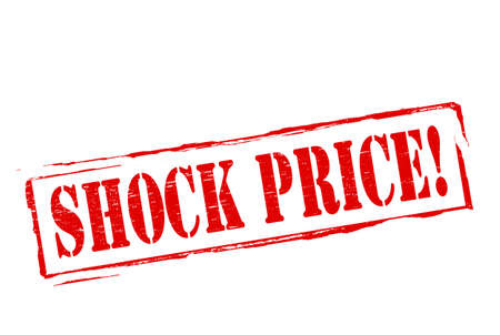 price hit: Stamp with text shock price inside, vector illustration