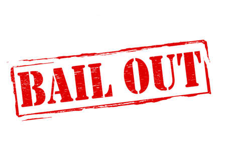 bail: Stamp with text bail out inside, vector illustration