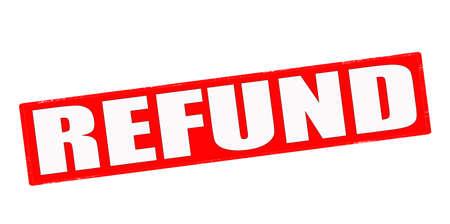reimbursement: Stamp with word refund inside, vector illustration