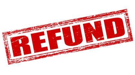refund: Stamp with word refund inside, vector illustration