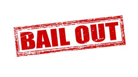 surety: Timbro con testo bail out dentro, illustrazione vettoriale