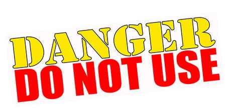 Selo com texto perigo não usar dentro, ilustração vetorial Ilustração