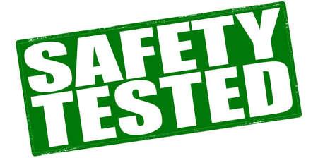 surety: Timbro con sicurezza testo testato dentro, illustrazione vettoriale