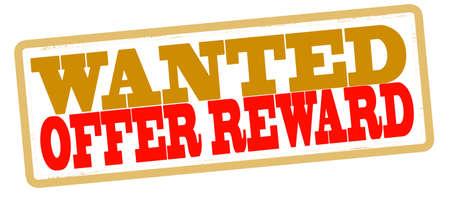 remuneraci�n: Sello con la oferta texto recompensa interior, ilustraci�n vectorial