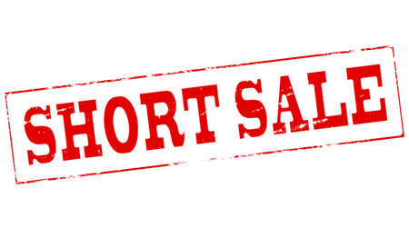 short sale: Stamp with text short sale inside, vector illustration