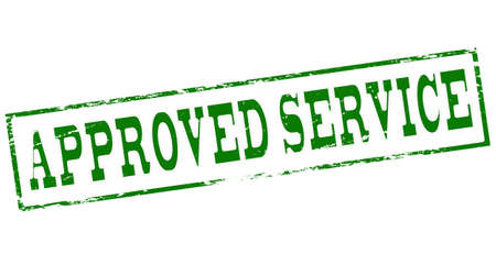 employ: Stamp with text approved service inside, vector illustration Illustration