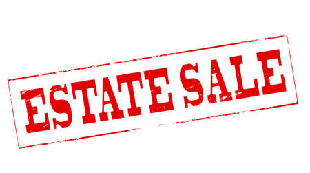 proprietary: Stamp with text estate sale inside, vector illustration