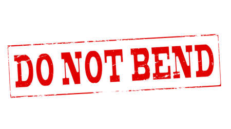 Stamp with text do not bend inside, vector illustration