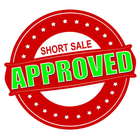 short sale: Stamp with text short sale approved inside, vector illustration