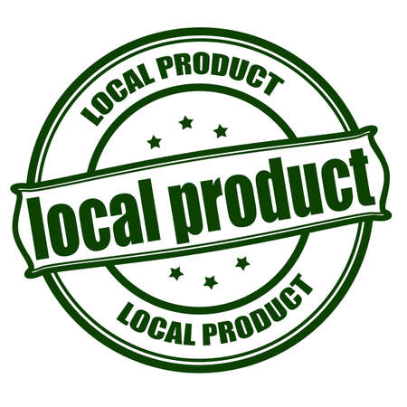regional product: Stamp with text local product inside, vector illustration Illustration