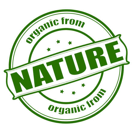 disposition: Stamp with text organic from nature inside, vector illustration Illustration