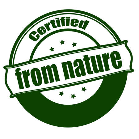 disposition: Stamp with text from nature inside, vector illustration