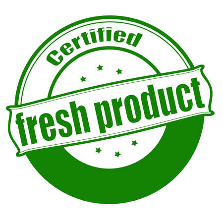 commodity: Stamp with text fresh product inside, vector illustration Illustration