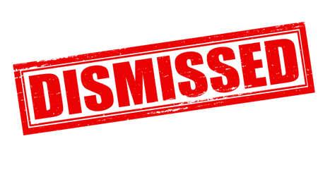 dismissed: Stamp with word dismissed inside, vector illustration