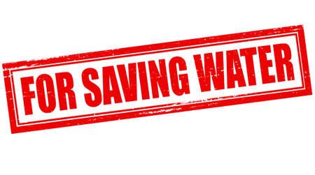d�livrance: Timbre avec du texte pour �conomiser l'eau � l'int�rieur, illustration vectorielle