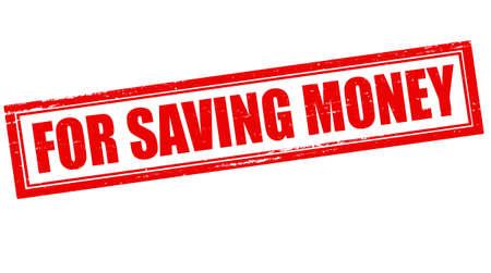 d�livrance: Timbre avec du texte pour �conomiser de l'argent � l'int�rieur, illustration vectorielle