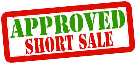 short sale: Stamp with text approved short sale inside, vector illustration