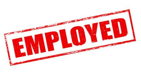 empleadas: Sello con la palabra empleada en el interior, ilustraci�n vectorial