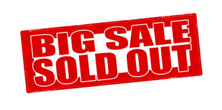 sold out: Stamp with text big sale sold out inside, vector illustration Illustration