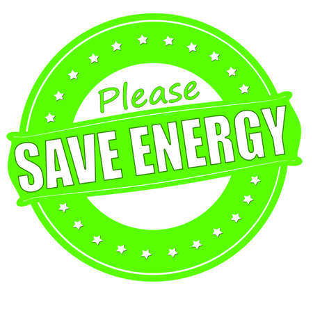 rescue circle: Stamp with text save energy inside, vector illustration