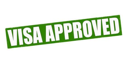 visa approved: Stamp with text visa approved inside, vector illustration