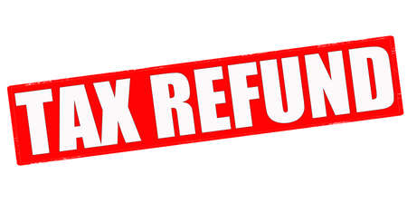 refund: Stamp with text tax refund inside, vector illustration