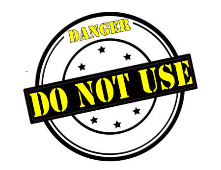 stead: Stamp with text danger do not use inside, vector illustration