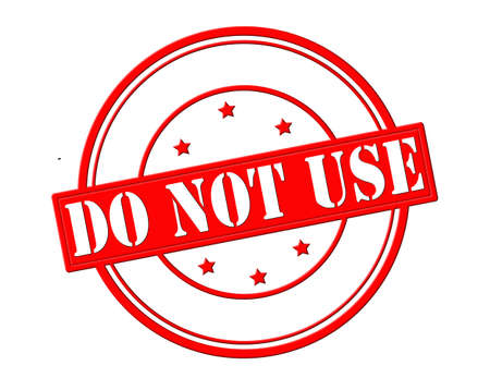 stead: Stamp with text do not use inside, vector illustration