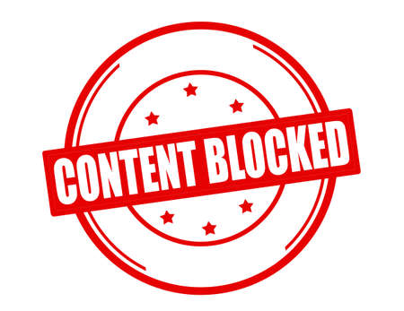 blocked: Stamp with text content blocked inside, vector illustration
