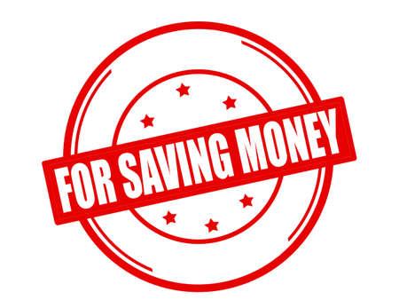 thrift: Sello con el texto para ahorrar dinero en el interior, ilustraci�n vectorial Vectores