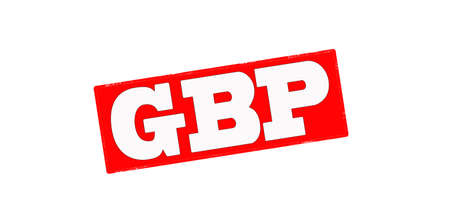 gbp: Stamp with word GBP inside, vector illustration