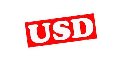 dolar: Sello con la palabra USD interior, ilustraci�n vectorial