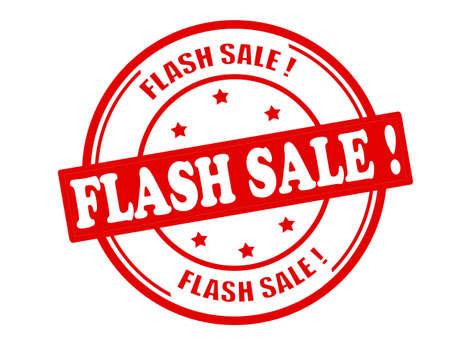 Stempel met tekst flash verkoop binnen, vector illustratie Stock Illustratie