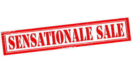 sensational: Stamp with text sensational sale inside, vector illustration 일러스트