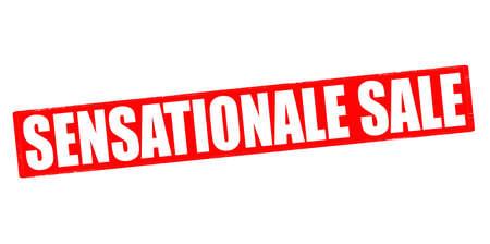 sensational: Stamp with text sensational sale inside, vector illustration Illustration