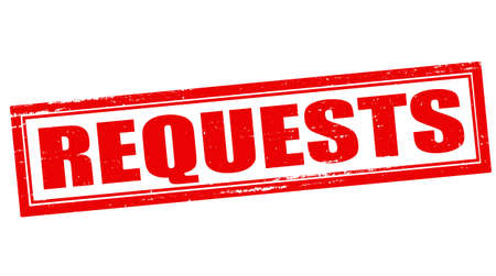 solicitation: Stamp with word request inside, vector illustration Illustration