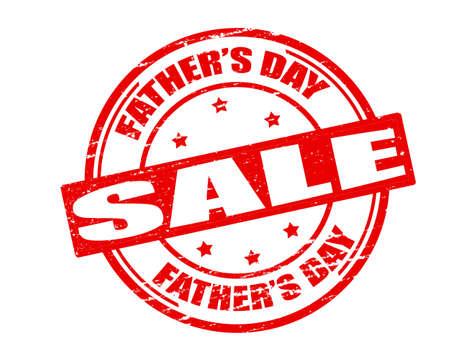Stempel met de tekst vaderdag verkoop binnen, vector illustratie Stock Illustratie