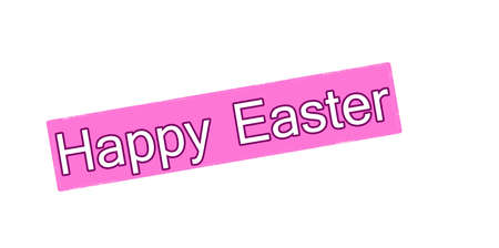 blithe: Sello con el texto feliz de Pascua dentro, ilustraci�n vectorial