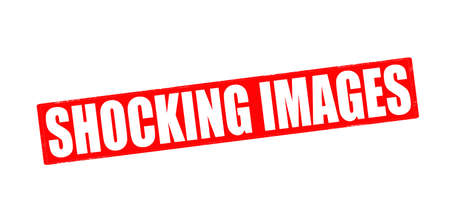 shocking: Stamp with text shocking images inside, vector illustration