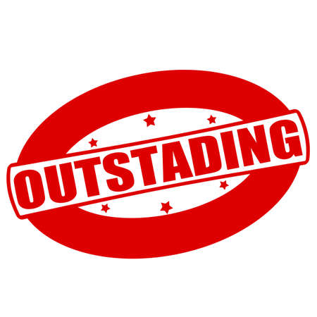 outstanding: Stamp with word outstanding inside, vector illustration