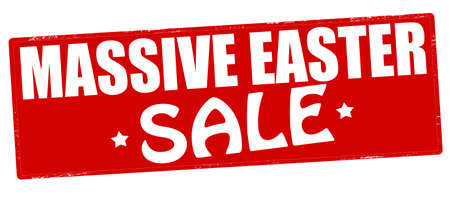 massy: Stamp with text massive Easter sale inside, vector illustration