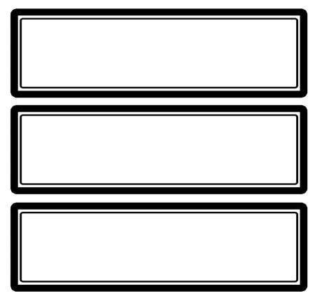 rectangular: Three rectangular stamps Illustration