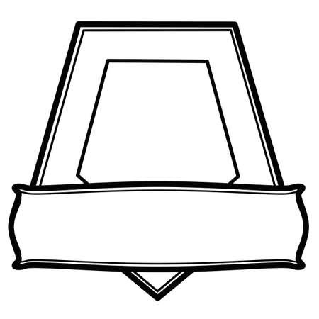rectangular: Pentagonal stamp with rectangular Illustration